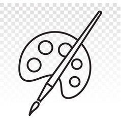 Palette paint brush paintbrush icon for apps vector