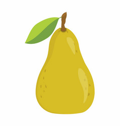 pear on the white background vector image