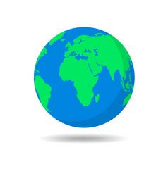 planet earth icon vector image