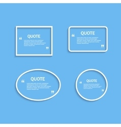 Quote frame outline vector