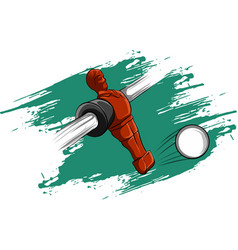 Red player table football vector