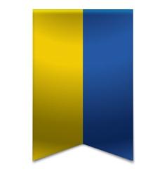 Ribbon banner - ukrainian flag vector image
