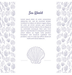 sea world banner template with place for text and vector image