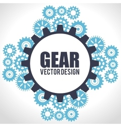set gear wheel team work design isolated vector image