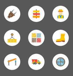 Set of industry icons flat style symbols with dump vector