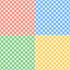 Set of seamless checkered textures vector image
