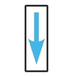 Sharp Arrow Down Framed Icon vector