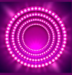 show light podium purple background vector image