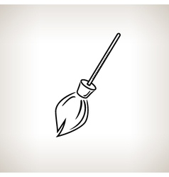 Silhouette broom on a light background vector