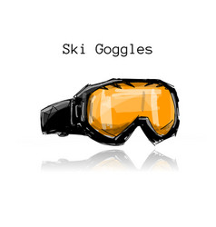 ski googles sketch for your design vector image