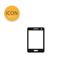 smart phone icon isolated flat style vector image