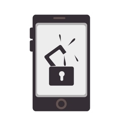 Smartphone device security system icon vector