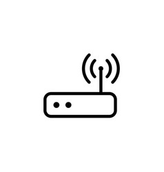 Thin line wi-fi router icon vector