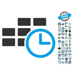 Time Table Flat Icon With Bonus vector image