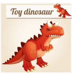 Toy dinosaur 3 Cartoon vector image