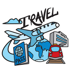 travel and resort service vector image