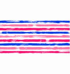 trendy watercolor brush stripes seamless vector image