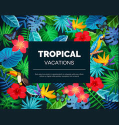 Tropical exotic background vector