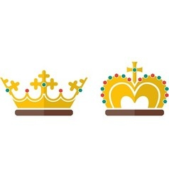 Two crowns vector
