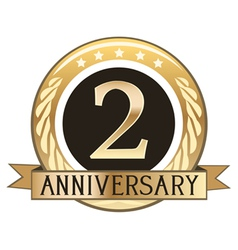 Two Year Anniversary Badge vector image