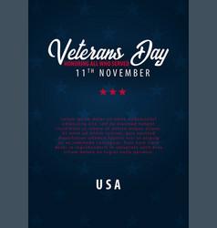 Veterans day honoring all who served november 11 vector
