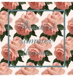 Vintage Watercolor Roses flowers Card vector