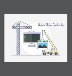 Website under construction icon vector