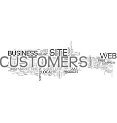 what customers expect from your web site text vector image