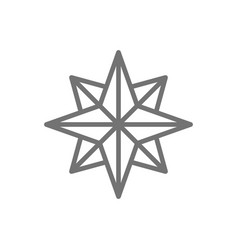 wind rose sides world compass direction vector image