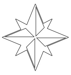 wind rose the black color icon vector image
