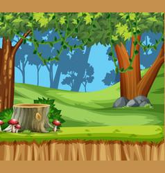 Wood land scape scene vector