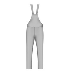 Workwear pants icon realistic style vector