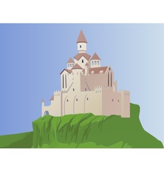 castle on a rock vector image