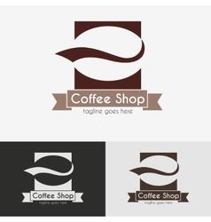 Coffee shop logo vector image vector image