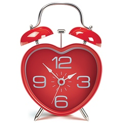 Heart shaped alarm clock vector image vector image
