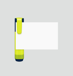 modern marker with white paper on gray vector image