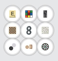 flat icon entertainment set of bones game arrow vector image vector image