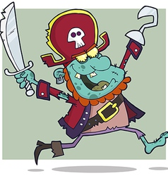 Pirate Zombie With A Cutlass vector image vector image
