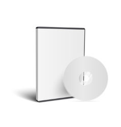 Realistic Case for DVD Or CD Disk with Disk vector image