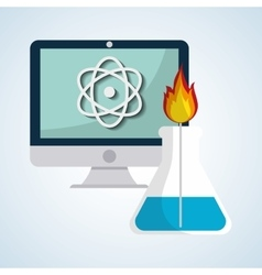 Science design technology icon research concept vector