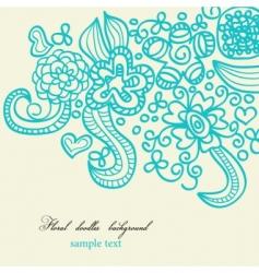floral doodles background vector image vector image