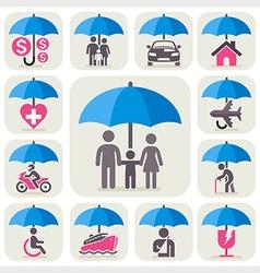 insurance umbrella vector image vector image