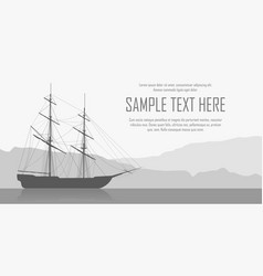 landscape with sailing ship vector image vector image