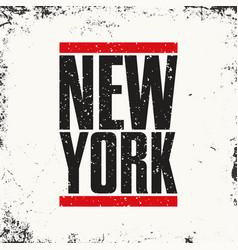 new york sportswear emblem athletic apparel vector image