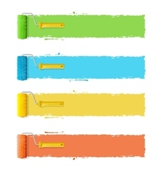 Roller Brushes With Stripes for Your Text vector image vector image