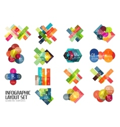Set of buiness infographics templates vector image vector image