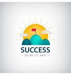 success creative logo icon concept 2 vector image vector image