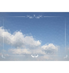 Triangular Clouds in the Sky Backdrop vector image vector image