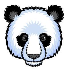 Panda head logo vector