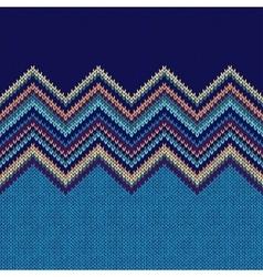Seamless knitting Christmas pattern vector image vector image